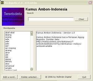 Kamus Ambon Indonesia